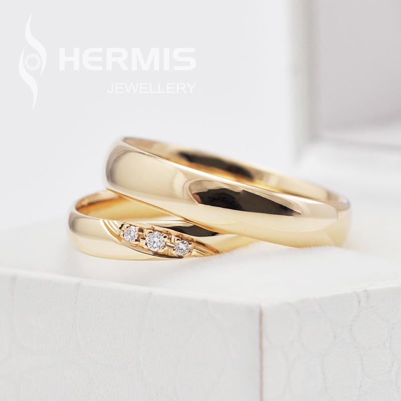 Siauri vestuviniai žiedai su briliantais
